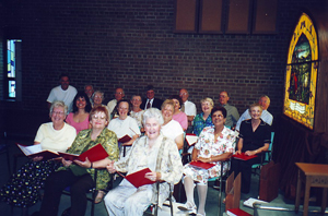 Choir rehearsal, June 22, 2003